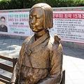 9日、中国版ツイッター・微博の検索キーワードランキングで「慰安婦漫画刺青」が一時、上位50位にランクインした。写真は韓国の慰安婦像。