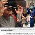 ヘッドバンド部分のサイズを確認する15歳少年と装着した医療スタッフ達(画像は『Metro 2020年4月7日付「Boy, 15, creates masks with 3D printer so effective NHS staff ask for more」(Picture: Gofundme/Rudra Nakade)』のスクリーンショット)