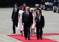 トランプ米大統領、皇居で歓迎式典に出席 首脳会談へ