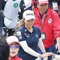 LPGAツアー選手権リコーカップ最終日(12月1日)、渋野は幅広い世代のギャラリーから声援を送られた