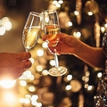 お祝いのシャンパン