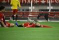 途中出場からわずか7分間で電光石火の2ゴール。2点目を決めた後、伊藤はピッチに寝転んで喜びを表現した。写真:滝川敏之