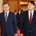 蜜月だった頃の尹錫悦(ユン・ソギョル)検事総長と文大統領