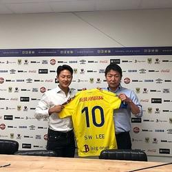 元バルサの韓国代表MFイ・スンウ、シント・トロイデンへの完全移籍が決定