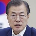 14日、NSC全体会議で発言する文在寅氏(韓国大統領府提供)