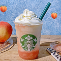 【スタバ新作】昨年からグレードアップ!白桃まるごと「ピーチ オン ザ ビーチ フラペチーノ」を飲んできた♡