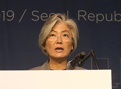 韓国の康京和外相=10月8日、ソウル(EPA時事)