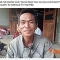 亡くなったことにされていた44歳男性(画像は『The Sun 2017年12月21日付「BACK FROM THE DEAD Man stuns family when he returns home months after his CREMATION ceremony in Thailand」(THAI PBS)』のスクリーンショット)
