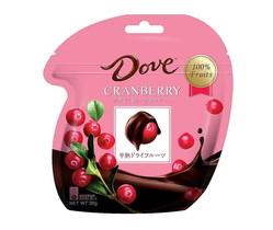 米チョコレート「ダブ(Dove)」日本上陸、半熟クランベリーを包んだ「ダブ クランベリー」全国展開へ