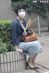 6月12日に本誌が撮影した河井案里議員の近影(撮影・末松友幸)