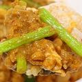 なか卯の「キーマカレー親子丼」