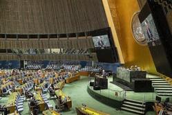 9月26日の「核兵器の全面的廃絶のための国際デー」に合わせて開かれた国連総会のハイレベル会合では、条約批准を表明する国が相次いだ(UN Photo/Rick Bajornas)