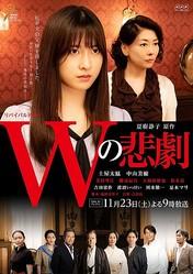 NHK・BSプレミアムのリバイバルドラマ『Wの悲劇』(11月23日放送)強い絆で結ばれた母と娘を守るために殺人事件の隠ぺい工作を始める和辻家の面々ら主なキャストがそろったメインビジュアル(C)NHK