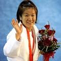 柔道の女子48キロ級で大会3連覇を狙った谷だったが、準決勝で敗れ、3位の銅メダルで終わる。今後の進退については「周囲と相談して決める」と話すにとどまった (Photo by PHOTO KISHIMOTO)  [2008年8月9日、北京科技大体育館(北京)]