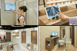 「ワコール3D smart & try」での計測のイメージ。(画像: ワコールの発表資料より)