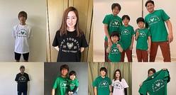 チャリティTシャツの売上は、ホームタウンに寄付される。ヴェルディとベレーザの選手や永井監督らも協力を呼び掛けた。(C)TOKYO VERDY