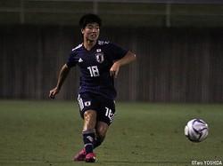 U-18日本代表の右SB三原秀真(愛媛U-18)は2得点をアシスト