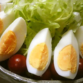 ゆで卵を包丁できれいに切る裏技