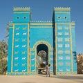 イラク首都バグダッド南方にあるバビロン遺跡のイシュタル門(2019年6月29日撮影)。(c)Hussein FALEH / AFP