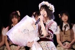 ↑卒業公演での小畑優奈(C)SKE