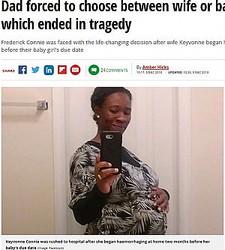 予定日より早く陣痛が起こり出血多量でこの世を去った妊婦(画像は『Mirror 2018年12月6日付「Dad forced to choose between wife or baby during labour which ended in tragedy」(Image: Facebook)』のスクリーンショット)