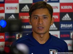 森保一監督の初陣に向け、決意を語った日本代表MF青山敏弘