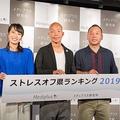 写真左から、上田まりえ、小峠英二、西村瑞樹