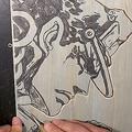空条承太郎の「木版画」彫ってみた 仕上がりに「細かっ」「素晴らしい」