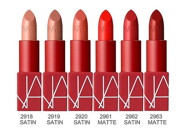 NARS25周年を記念した新リップは全72カラー!原点である12色の赤リップもリニューアルしてお目見え