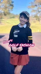 【今日のゴルフコーデ】新作!秋コーデ!