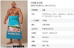 十両・大砂嵐(画像は日本相撲協会の公式ウェブサイトから)