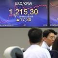KOSPIとコスダックが急落し、韓国株式市場の時価総額が約50兆ウォン減少した=5日、ソウル(聯合ニュース)