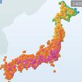 京都市は38℃予想 東・西日本は熱中症に注意