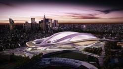故ザハ・ハディッド氏がデザインした競技場は巨額の建築費がネックとなり実現に至らず、選考に携わった建築家・安藤忠雄氏は、「デザインで選んだだけで、その先のことは知らない」と弁明した(写真/AFLO)