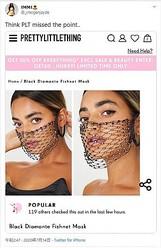 マスクの販売元を非難するツイート(画像は『IMMI 2020年7月14日付Twitter「Think PLT missed the point..」』のスクリーンショット)