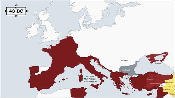 過去2500年のヨーロッパの国々が統治者によってどれだけ領土が変わっ ...