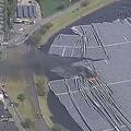 千葉県のメガソーラー発電所で火災 台風による強風が原因か