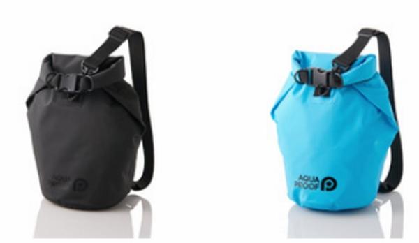 0b0fa2a886 「P-WPBDシリーズ」は防水バッグ。巾着のような可愛いデザインながらJIS保護等級IP45対応の防水・防塵性能で、スマホや財布、タオルなど をまとめて運ぶことができる。