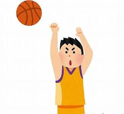 「上手くなる」と全裸でバスケットボール