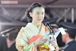 『天皇陛下御即位をお祝いする国民祭典』で約2分半、祝辞を読み上げた芦田愛菜(11月9日)