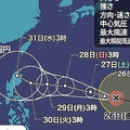 非常に強い勢力の台風26号 進路を北向きに変える可能性も