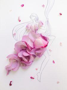 花びらを使った大胆アートにうっとり自分でも好きな花でつくってみない