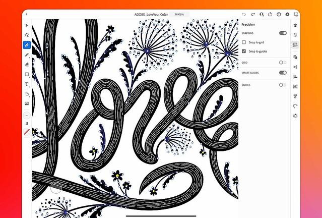 iPad版「Illustrator」公開 月額1080円、30日間は無償利用可能