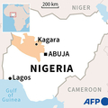 ナイジェリア・ナイジャ州カガラの位置を示した地図。(c)LAURENCE SAUBADU, CLEA PECULIER / AFP