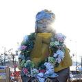 平昌五輪の会場近くに設置された慰安婦像