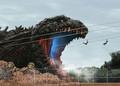 ゴジラの体感型アトラクションが登場 全長120mの実物大も