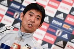 前日会見に臨んだ日本代表の森保監督。相手のレベルの高さを認めつつ、「厳しい試合になる」と見通しを語った。写真:金子拓弥(サッカーダイジェスト写真部)