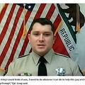 男性を救ったロング巡査長(画像は『ABC10 2021年2月9日付「Tuolumne County Sheriff's deputy performs 'heroic' rescue」』のスクリーンショット)