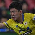 男子日本代表の張本智和【写真:Getty Images】