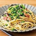 青豆の和風ペペロンチーノ